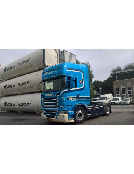 Scania S-serie Highline met 40ft silo tankcontainer Hovetra