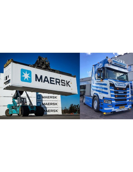 Scania S Highline met 40ft reefer container - LUBRECHT, HANS