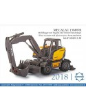 MECALAC 15MWR wheel excavator offset two-piece boom attachment