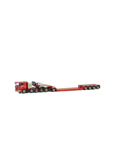 SCANIA P6 FLAT ROOF 10x4 LOWLOADER 4 AXLE + DOLLY 1 AXLE - KNT Red Line